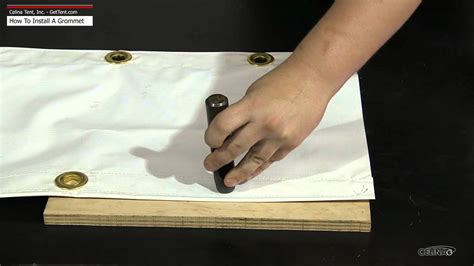 how to install grommets in curtains how to install a grommet eyelet youtube