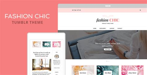 fashion blog themes tumblr fashion chic tumblr theme by themelantic themeforest