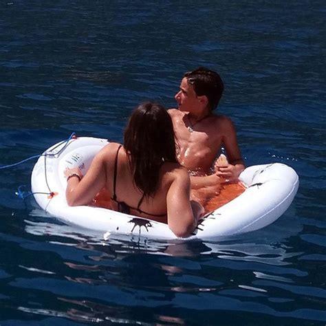 amaca sul mare materassino gonfiabile amaca galleggiante con rete per