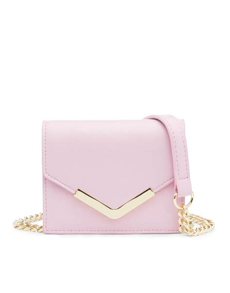 light pink crossbody purse lyst cynthia rowley mini cross body solid in pink