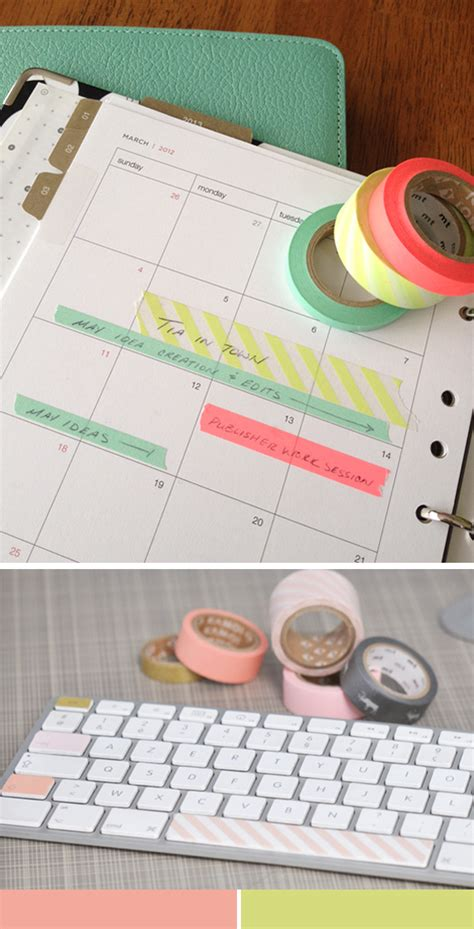 things to do with washi tape tape it la la lovely