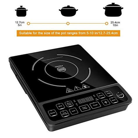 induction cooktop with temperature induction cooktop 10 1800w portable digital induction