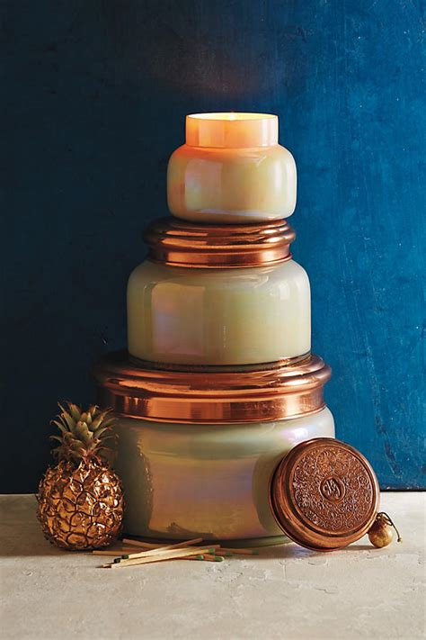 Blue Jar Candle by Blue Iridescent Jar Candle Anthropologie