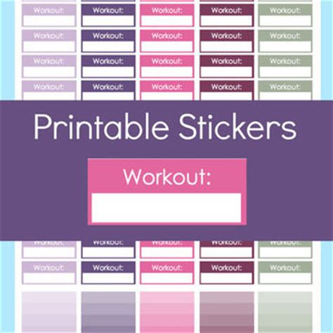 free printable workout planner stickers homework stickers planner stickers from commandcenter on etsy