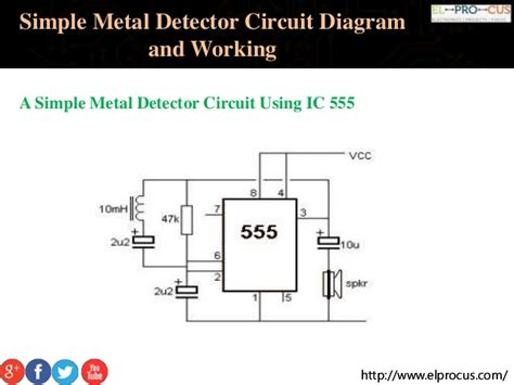 metal detector circuit diagram simple metal detector circuit diagram and working