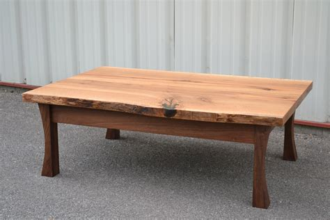 White And Oak Coffee Table Live Edge Coffee Table Modern With Live Edge Coffee Table Reclaimed Wood And Iron Nesting