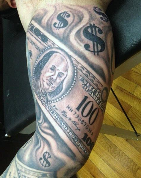money tattoo sleeve designs 50 money tattoos for wealth of masculine design ideas