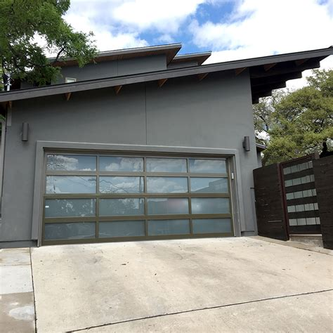 glass garage door view in gallery sectional glass garage