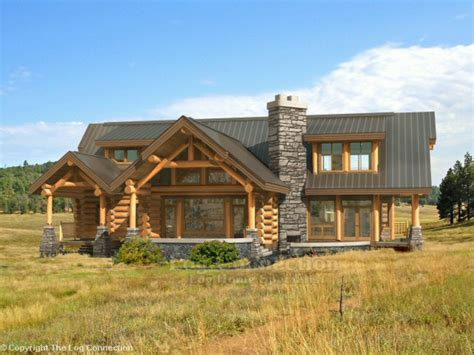 log and stone house plans beautiful log homes stone and log home plans log home