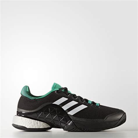 adidas mens barricade boost 2017 tennis shoes black green tennisnuts