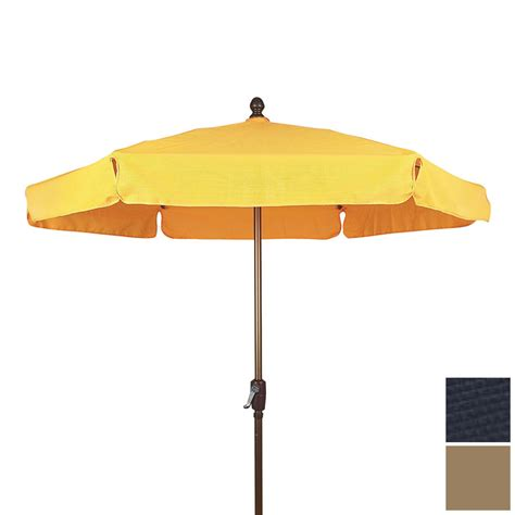Patio Umbrellas Lowes Shop Fiberbuilt Navy Blue Patio Umbrella With Crank Common 90 In Actual 90 In At Lowes