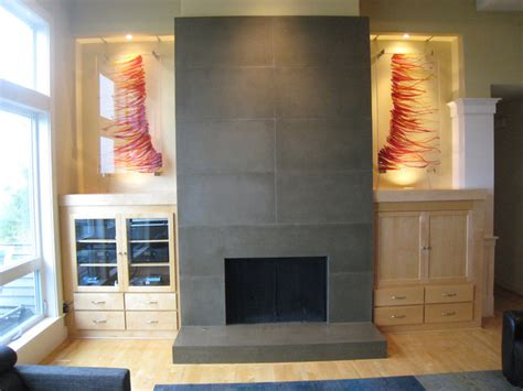 Kitchen Wall Ideas Decor by Forest Heights Fireplace Remodel And Custom Art Glass
