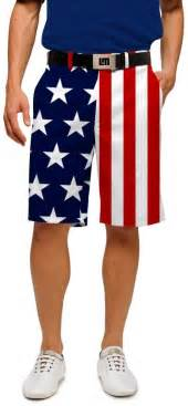 Flag stars and stripes shorts loudmouth golf patriotic clothing