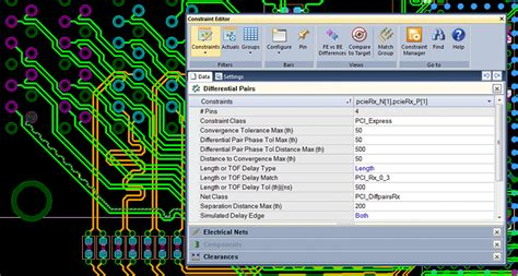 editing pcb layout integrated constraint definition environment mentor graphics