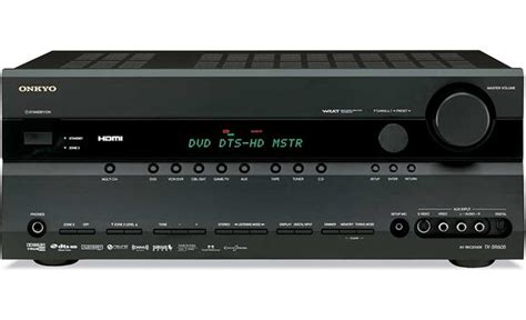 onkyo tx sr605 black home theater receiver with hdmi