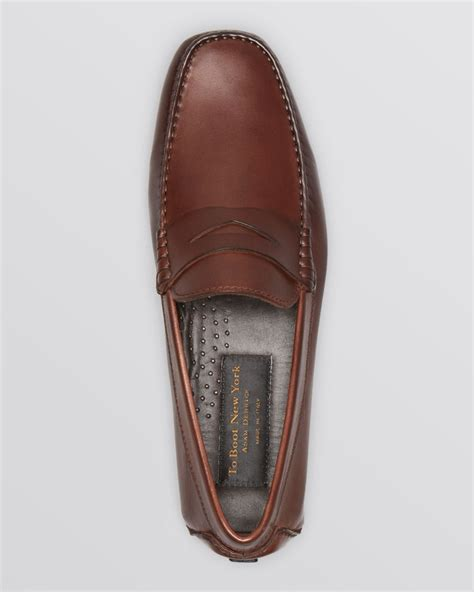 to boot loafers to boot driving loafers in brown for lyst