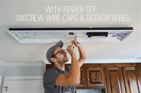 How To Change Out Fluorescent Light Fixture How To Replace Fluorescent Lighting With A Pendant Fixture House