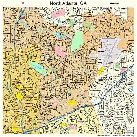 map of atlanta ga map of ga pictures to pin on pinsdaddy