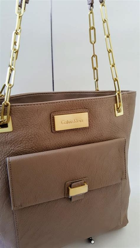 Tas Ck Tote Top Handle Original calvin klein new tote handbag chain shoulder bag on sale 47 shoulder bags on sale