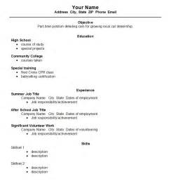 Resume Exles For Highschool Students by High School Student Resume Template Open Resume Templates