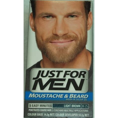 just for light brown just for moustache and beard dye light brown