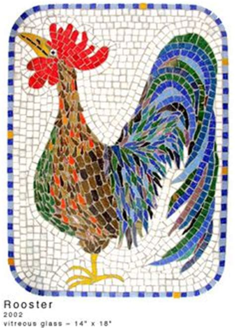 mosaic rooster pattern roosters on pinterest mosaics stained glass patterns
