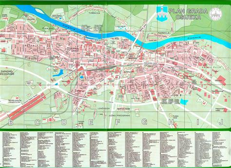 printable street map of zagreb large osijek maps for free download and print high