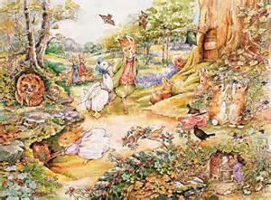 Beatrix Potter Wall Mural Peter Rabbit Wall Murals