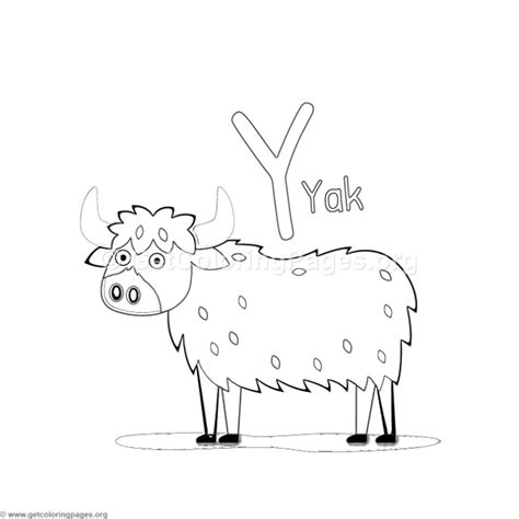 animal alphabet letter  coloring pages getcoloringpagesorg