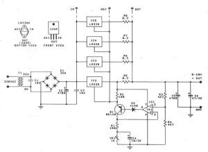 variable power supply 0 30v 20a lm338