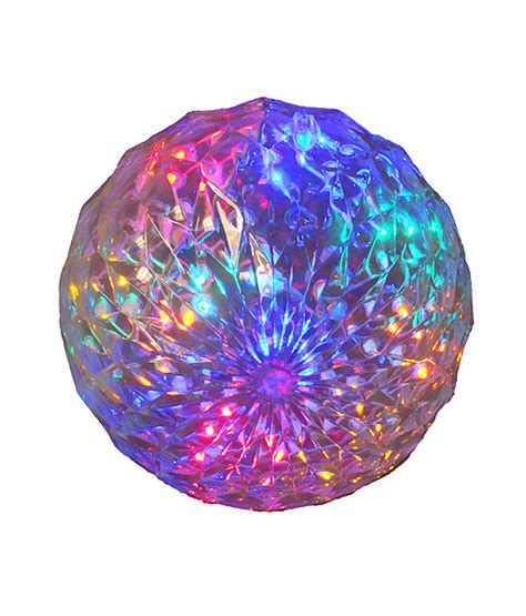 multi led lighted hanging christmas crystal sphere ball
