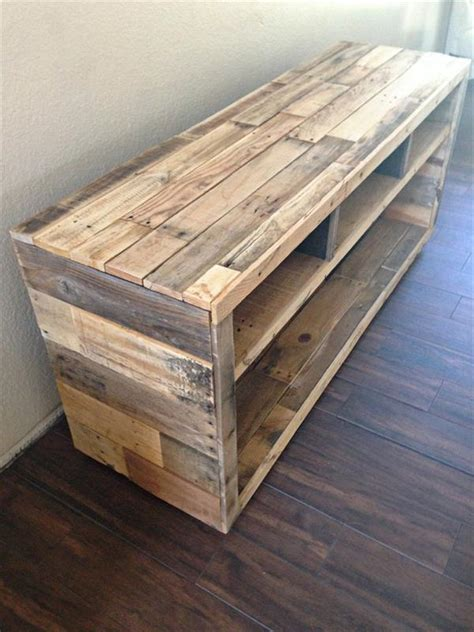 diy furniture diy pallet media console table pallet furniture diy