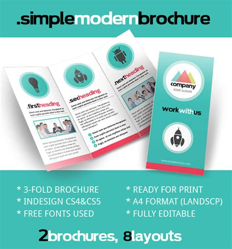 Free Psd Indesign Ai Brochure Templates Web Graphic Design Bashooka Free Simple Brochure Templates
