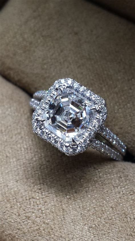 10th Wedding Anniversary Ring Ideas by 10th Anniversary Idea Asscher Cut Engagement