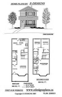 Narrow 2 Story House Plans Narrow Duplex House Plans Email Info Edesignsplans Ca