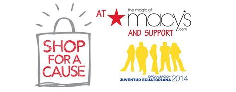 Shop For A Cause And Help Make The World More Glamorous shop for a cause organizaci 243 n juventud ecuatoriana esf