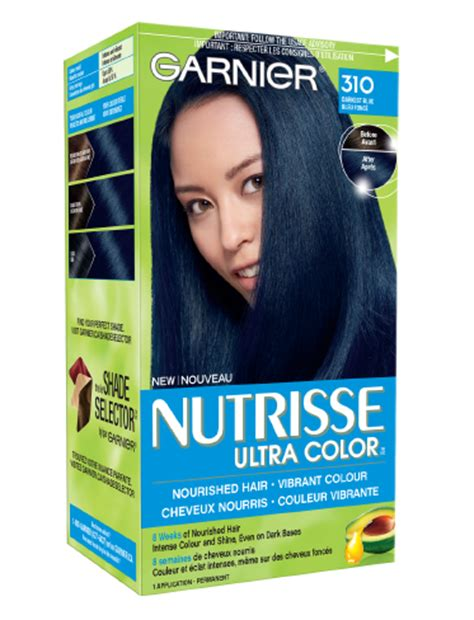 garnier fructis hair dye colors 310 darkest blue