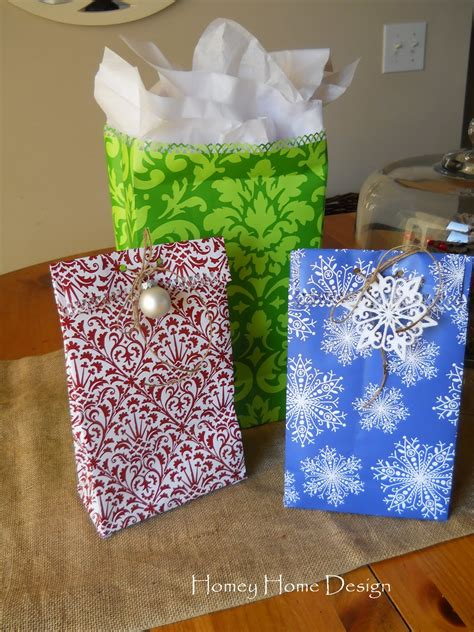 How To Make A Bag From Wrapping Paper - homey home design how to make gift bags out of wrapping paper