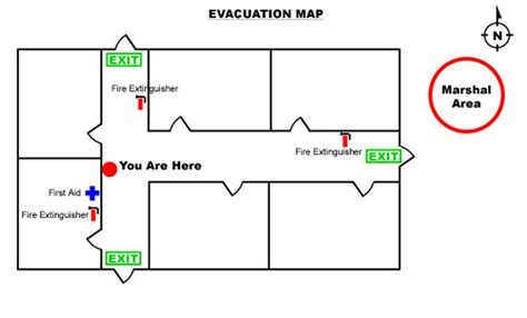Emergany Procedures And Evacuation Plans Gm Industries Emergency Evacuation Route Template