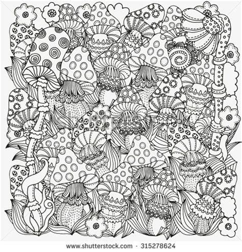 abstract mushrooms coloring pages 199 best images about adult colouring mushrooms