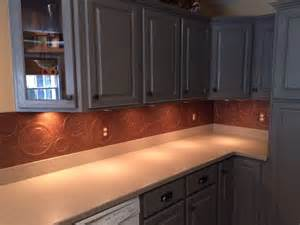 backsplash kitchen diy hometalk diy kitchen copper backsplash