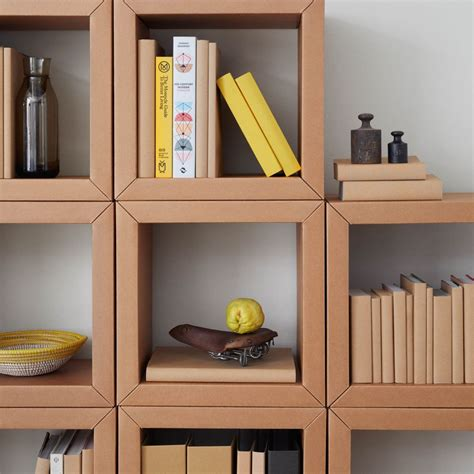 Cardboard Bookcase Cardboard Furniture Surprisingly Strong And Unexpectedly