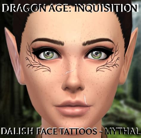 dalish tattoos age inquisition dalish by clalobaciel at mod