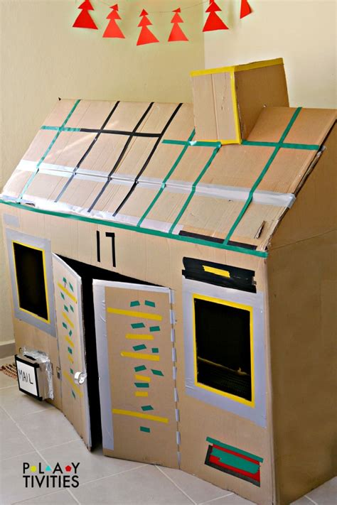 cardboard house how to build the most simple cardboard house playtivities