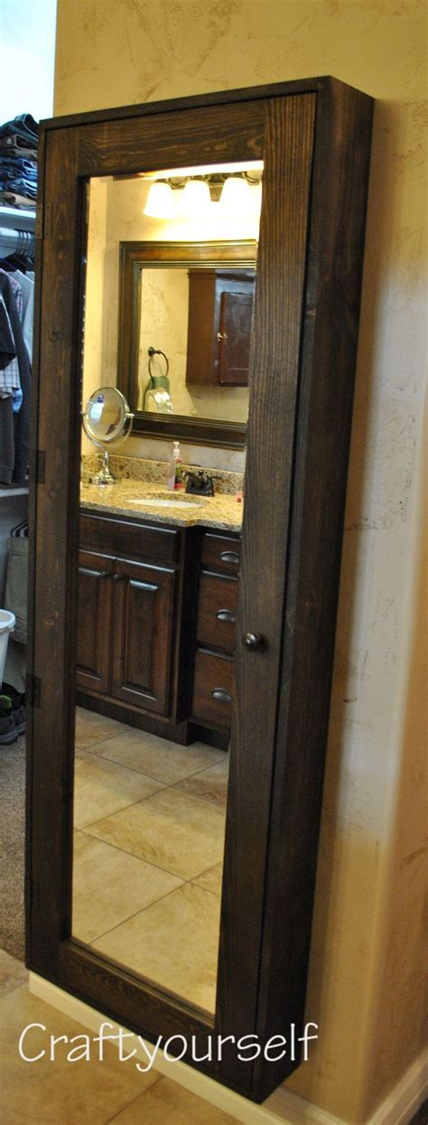 full length mirrored bathroom cabinet 25 best ideas about mirror jewelry storage on pinterest