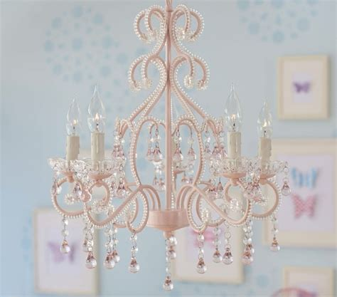 children chandelier pink lydia chandelier pottery barn