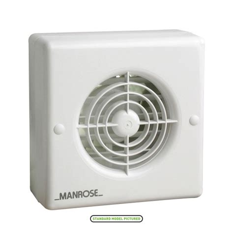 automatic bathroom exhaust fan manrose 100mm automatic shutter extractor fan with pir