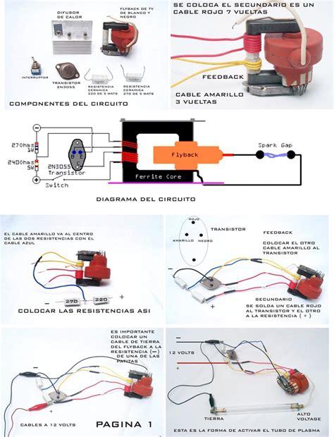transistor 2n3055 steren circuitos excitadores de alto voltaje con flyback