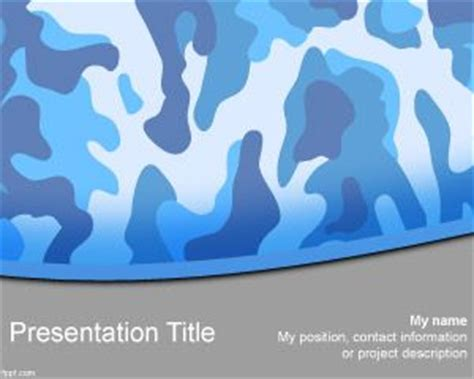 Free Navy Camo Powerpoint Template Camouflage Powerpoint