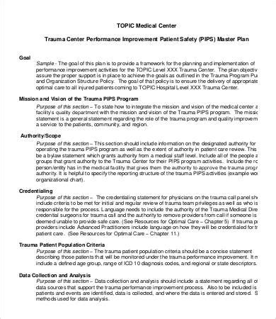 hospital plan template performance improvement plan template 13 free word pdf